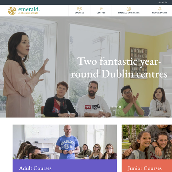 Emerald Cultural Institute launches new website