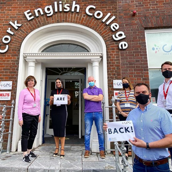 CEC - Cork English College has reopened for face to face classes after 179 days away!